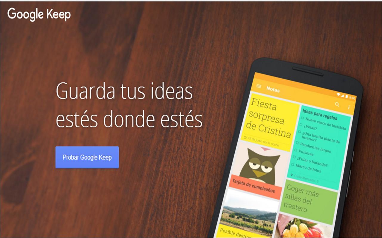 Google Keep: un bloc de notas versátil para volcar tus Ideas