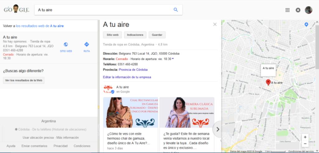 Google My Business para negocios locales